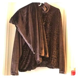 A brown solid brown jumpsuit